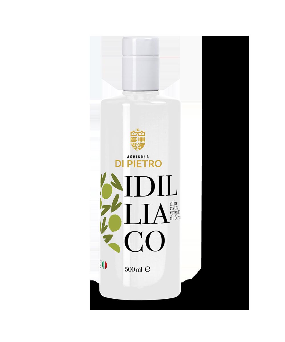 idilliaco olio extra vergine di oliva di varietà arbequina e arbosana